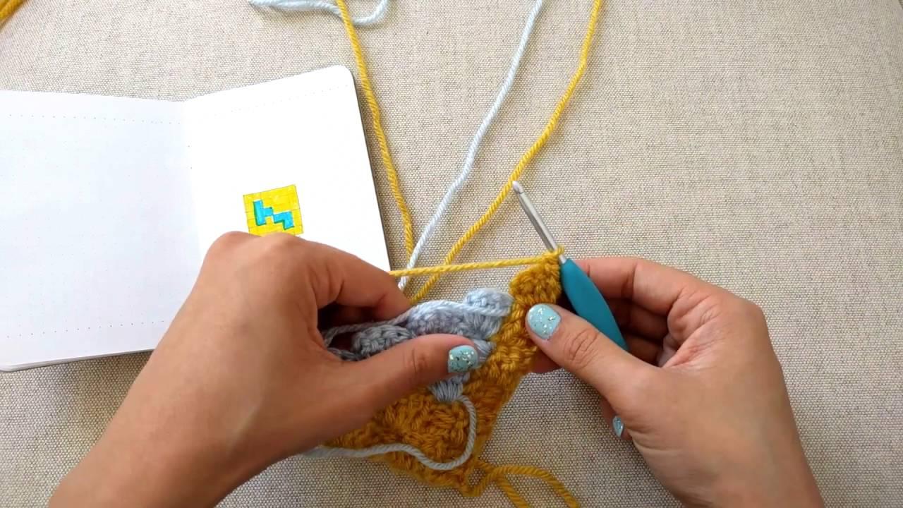 How To Decrease In C2c Crochet Youtube