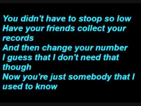 Gotye  Somebody That I Used To Know  Lyrics