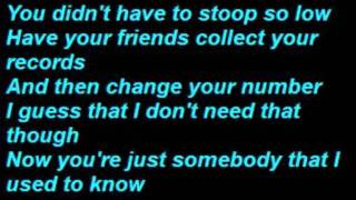 Repeat youtube video Gotye - Somebody That I Used To Know  (Lyrics)