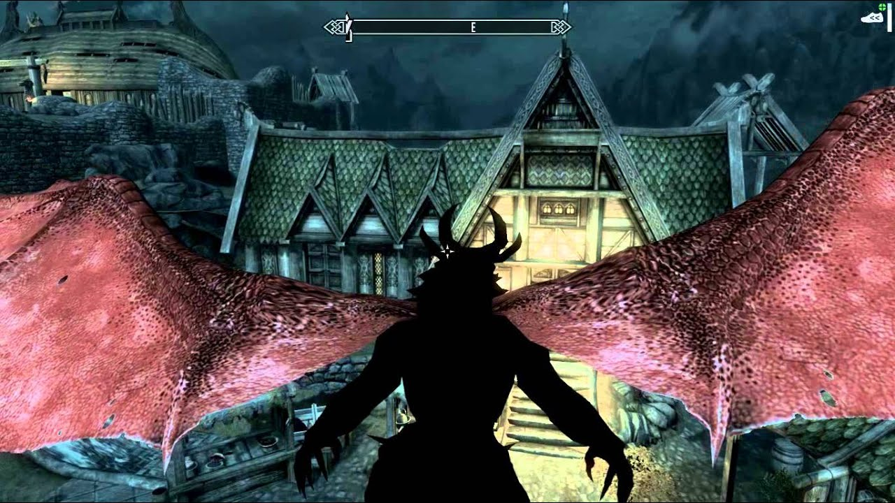 Skyrim Dragon Form Mod - YouTube