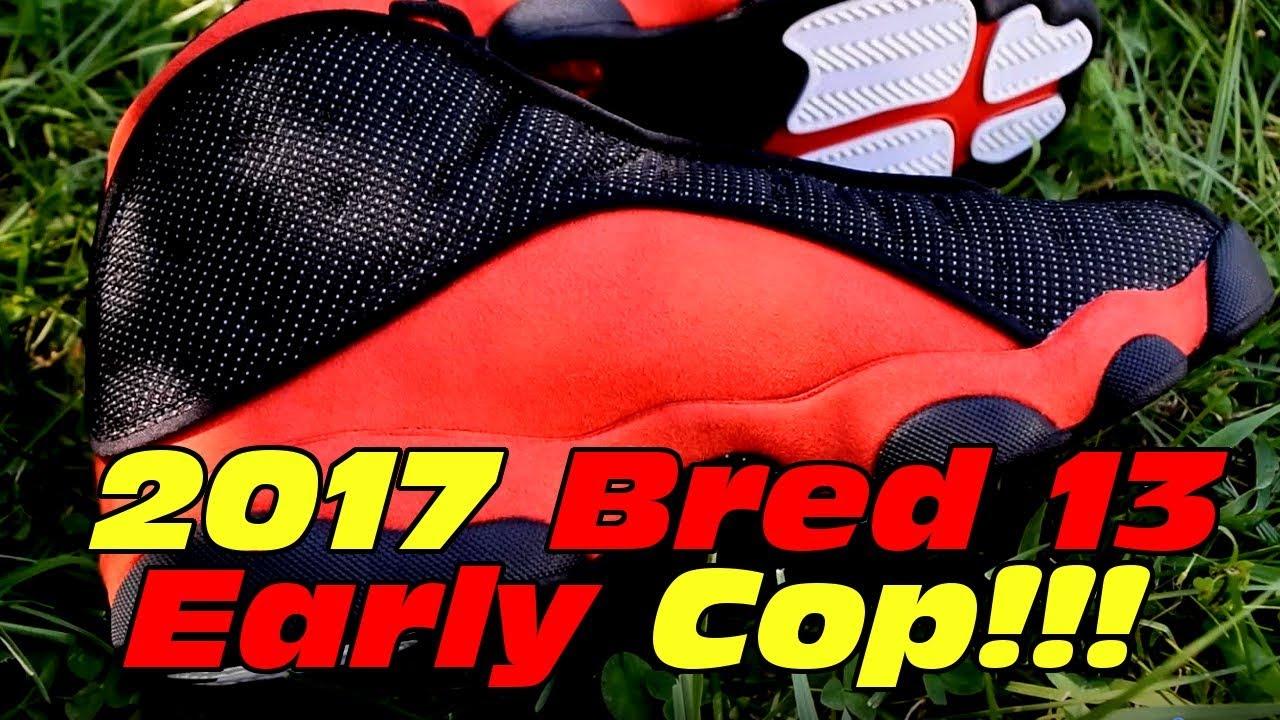 ... Air Jordan 13 Retro   BRED   2017 Early First Look!!! Review ... 3ec721b07