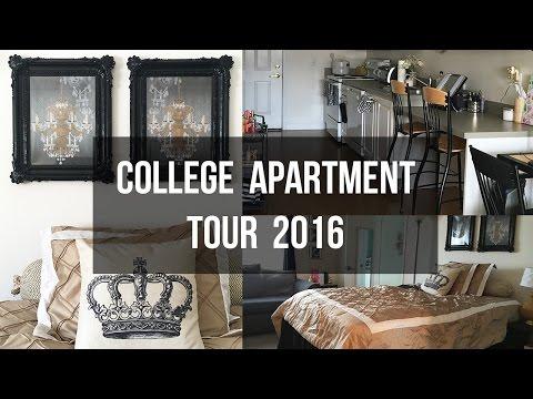 College Studio Apartment Tour 2016