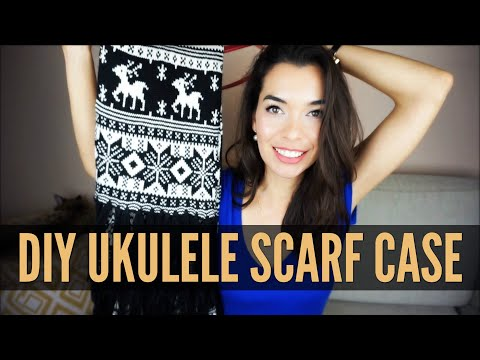 Make A Ukulele Case from a SCARF!!! Do-It-Yourself ✂