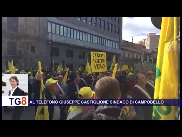 Protesta agricoltori siciliani. Presente il sindaco di Campobello di Mazara