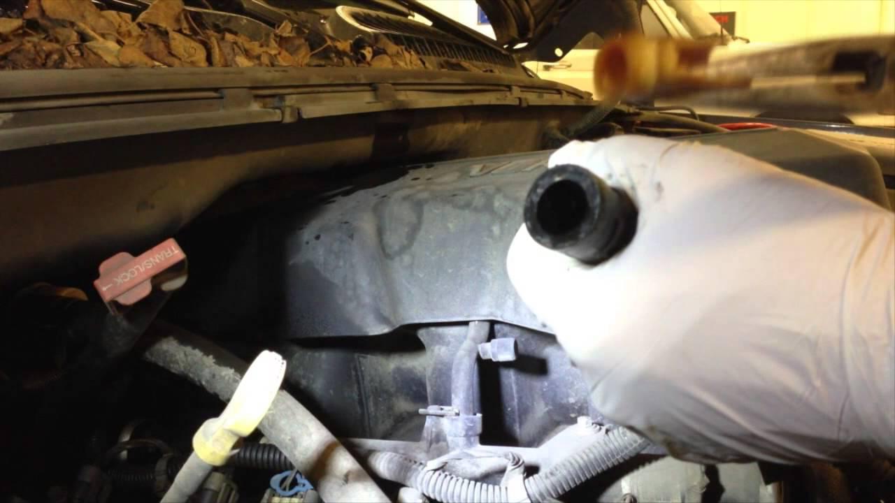Replacing Broken Heater Hose Connector On Chevy Silverado ...