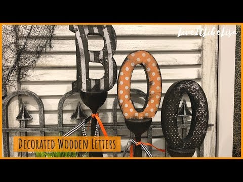 HALLOWEEN DIY DECOR | Decorated 'BOO' Wooden Letters