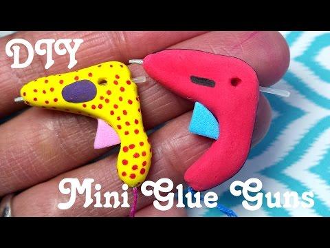 DIY Miniature Doll Glue Gun with Real Glue Sticks