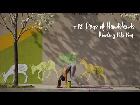 Kneeling to Handstand with Blocks | YogaSlackers 12 Days of Handstands