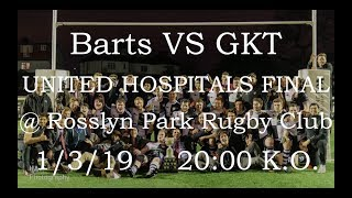 Barts and The London Rugby Club UH final promo 2019