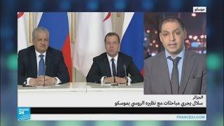 رئيس الوزراء الجزائري يجري مباحثات مع نظيره الروسي في موسكو