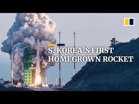 South Korea's first homegrown spacecraft Nuri blasts off