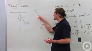Pendulum Motion - Physics tutoring video on pendulum motion