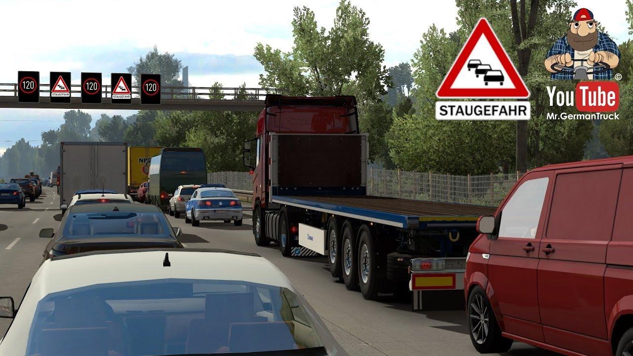 [ETS2 v1 34] Traffic Jam Mod / Stau Mod v4 0a *Neues Update*