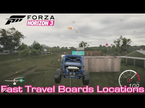Forza Horizon 3 [PC/Xbox One] - Fast Travel Boards Locations Guide