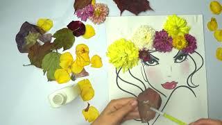 """Осенние поделки с материаловл из природных☘️/Autumn crafts/Осінні вироби"""" Панянка Осінь"""""""