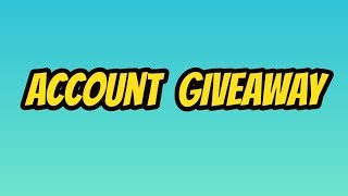 Account Giveaway | The Weird Roblox