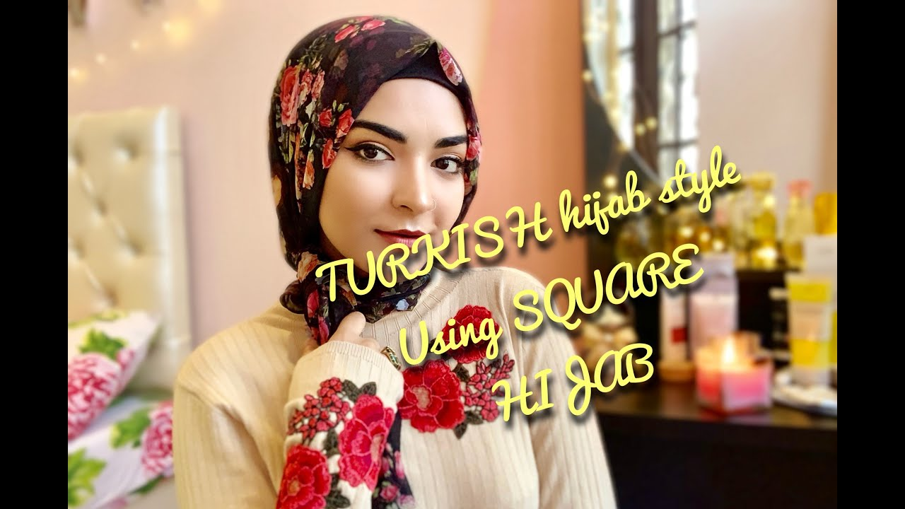 How to turkish wear square hijab