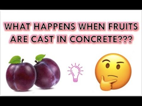 Plums Cast/Stored in Self Compacting Concrete for 90 Days (Amazing!!)