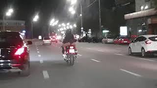 Без юбки на мотоцикле