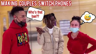Making Couples Switch Phones Loyalty Test 3 💔 Public Interview