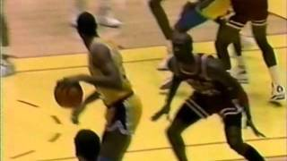 Bulls At Lakers Feb 7 1990 Magic Johnson vs Jordan
