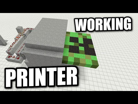 Minecraft - WORKING PRINTER ( NO COMMAND BLOCKS ) Redstone Tutorial - PS4 / PE / XBOX / PS3