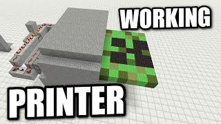 Repeat youtube video Minecraft - REDSTONE PRINTER ( NO COMMAND BLOCKS ) Tutorial ( PS4 / XBOX / PS3 / WII U / PE )