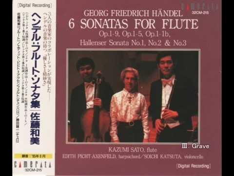 """Händel:Sonata in E Minor """"Hallenser No.2"""" - Kazumi Sato"""