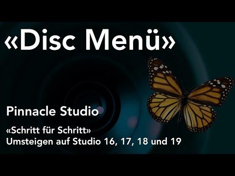 Disc Menü Vorlage in Pinnacle Studio  - Umsteigen auf Studio 16, 17, 18 und 19
