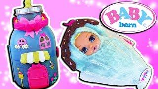 Baby Born Surprise Spielset Flasche | Super großes Haus für die Babys zum Mitnehmen |  Werbung*