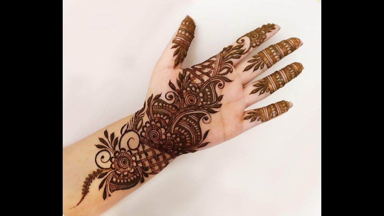 Arabic Heena Mehndi Design For Front Hand 2018 Youtube