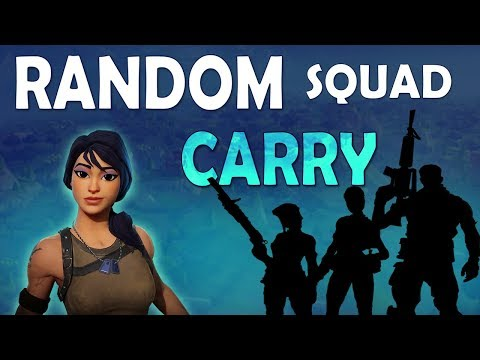 CARRYING RANDOM SQUAD | 19 KILLS | FUNNY ROLEPLAY - (Fortnite Battle Royale)