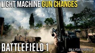 Battlefield 1 vs Battlefield 4 - Part 2: Light Machine Gun / LMG Changes (Closed Alpha)