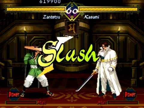 The Last Blade (Arcade/Neo Geo MVS) Playthrough as Zantetsu |