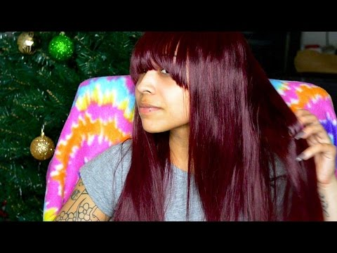 """show-&-tell:-ginnylacewigs.com-99j-18""""-lace-front-wig-with-bangs---affordable!"""