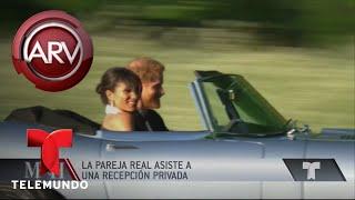 El príncipe Harry manejó su Jaguar hasta la recepción | Al Rojo Vivo | Telemundo