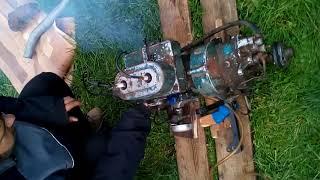 Работа стационарного лодочного мотора см557л