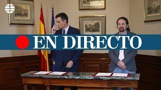 DIRECTO PROGRAMA ESPECIAL: Análisis del preacuerdo de Gobierno entre PSOE y Unidas Podemos