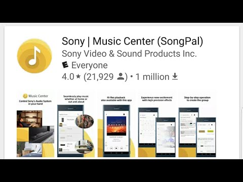 Sony Music Center (SongPal) App: SRS-XB30