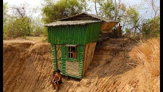 building two - story most beautiful bamboo house near wells