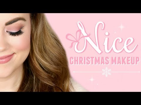 CHRISTMAS Drugstore Makeup Tutorial - NICE!  |  Cait B thumbnail