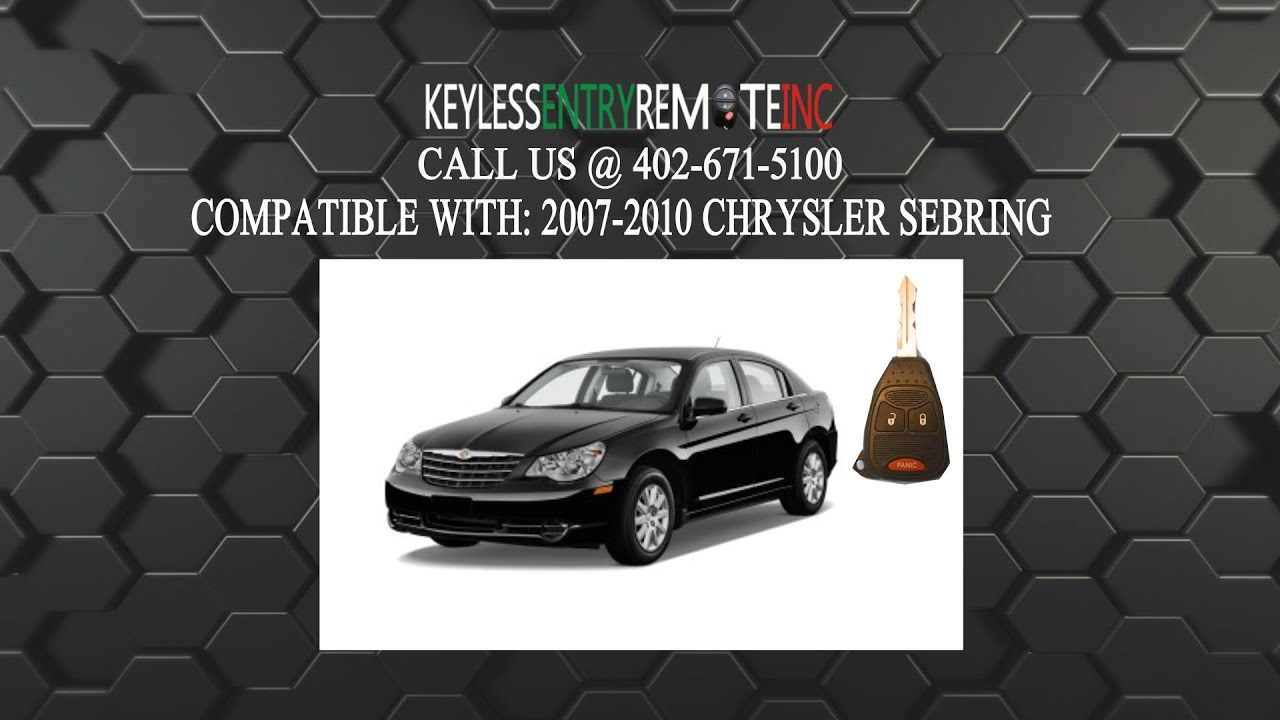 How To Replace Chrysler Sebring Key Fob Battery 2007 2008 2009 2010