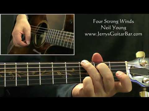How To Play Neil Young Four Strong Winds (intro only)