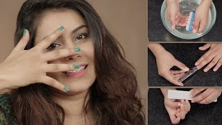 How To A Get Salon Like Manicure At Home | Nail Care Routine
