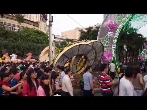 2014 Saigon Vietnam Crazy Traffic Lunar New Year TET Downtown