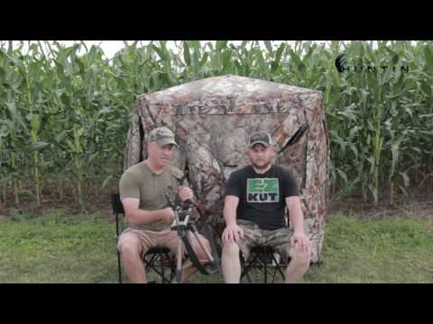 Do It Yourself Elevated Ground Blind Platform Youtube