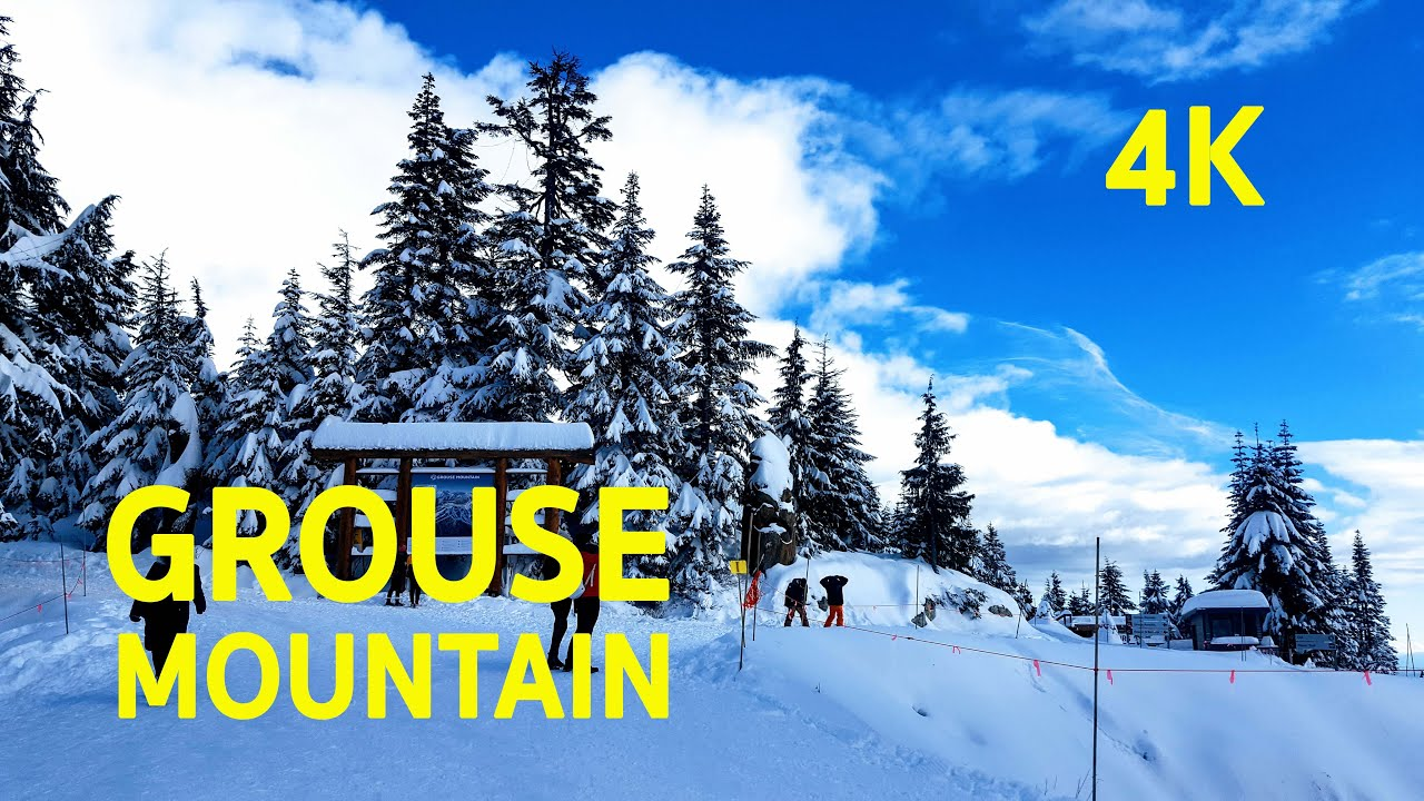 4K UHD Awesome Winter GROUSE MOUNTAIN