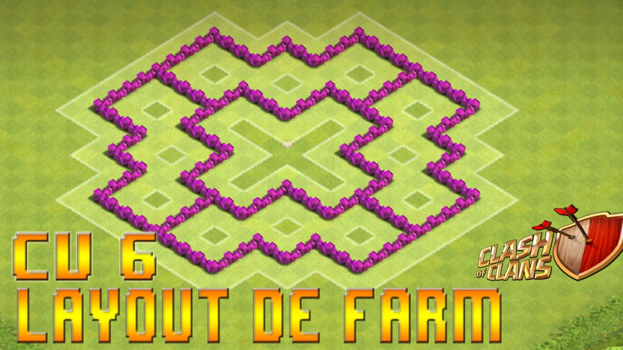 clash of clans - layout u0026 39 s de farm e de push cv6