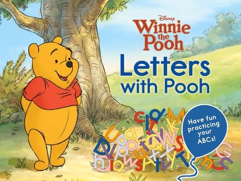 Letters with Pooh - iPad app demo for kids - Ellie