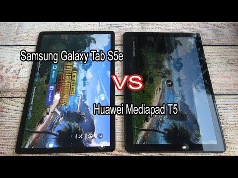 Samsung Galaxy Tab S5e Vs Huawei Mediapad T5 | SpeedTest And Camera Comparison